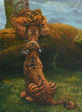 Тигрята: поцелуй
